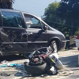 Incidente mortale in moto  La vittima è di Bellano