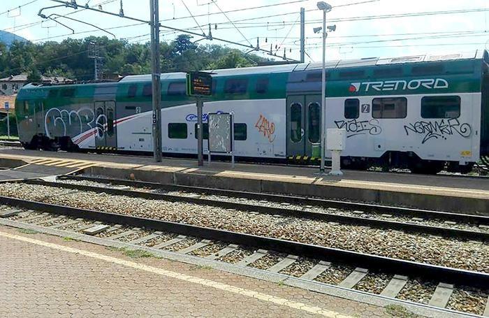 """L'altro lato del treno, meno """"colpito"""""""