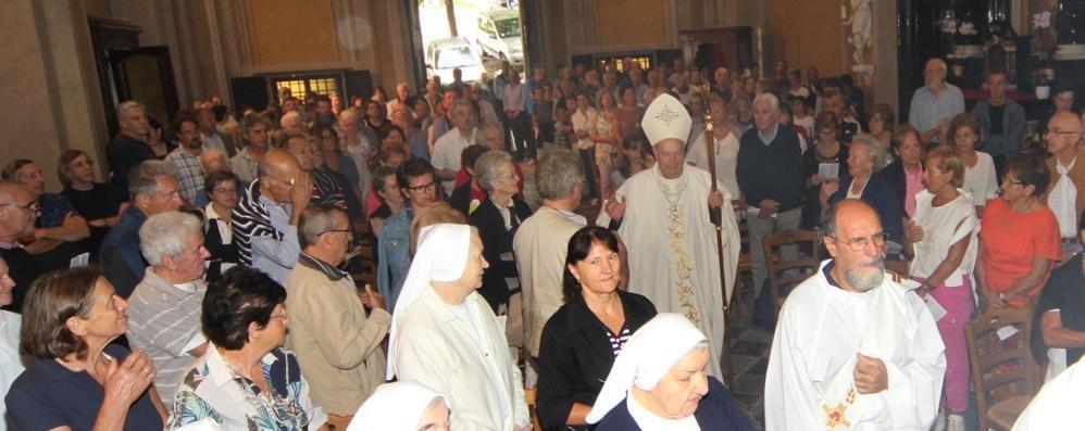 Santuario del Soccorso  Festa con il vescovo Cantoni
