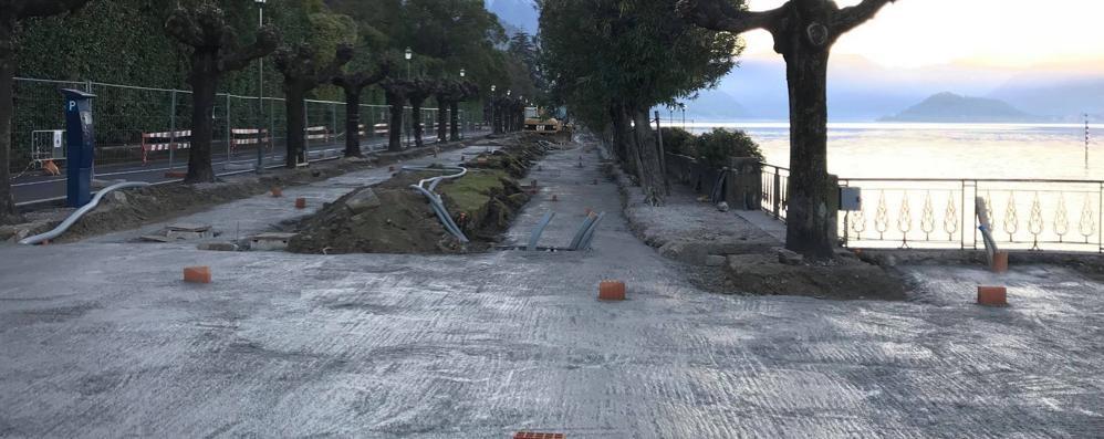 Bellagio, lavori sul lungolago  «Sarà a misura di turista»