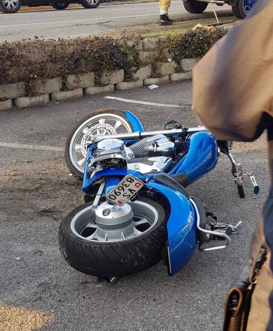 La moto coinvolta nell'incidente