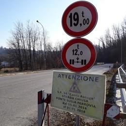 Da oggi chiude il ponte   Cantù Asnago: allarme caos