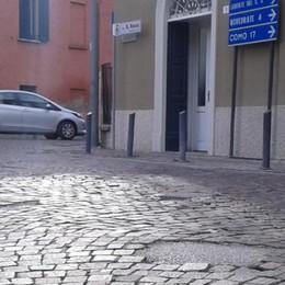 Mariano, piazza San Rocco cambia   Asfalto, non più cubetti di porfido