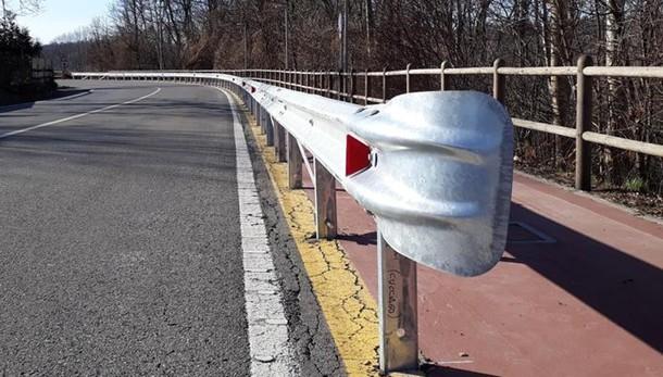 Senna, stop incidenti sulla ciclabile  Arrivano i guard rail di protezione