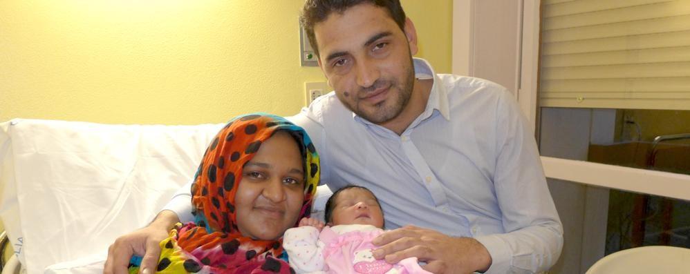 Safa prima nata   all'ospedale di Erba