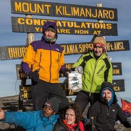 In tre conquistano  il Kilimangiaro  Nel nome di Alzate