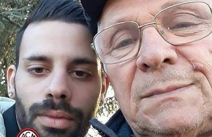 Luca Volpe con il nonno Giovanni Volpe