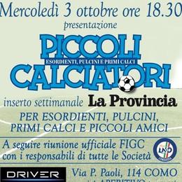 """""""Piccoli calciatori"""", grande iniziativa Tutti protagonisti con La Provincia"""