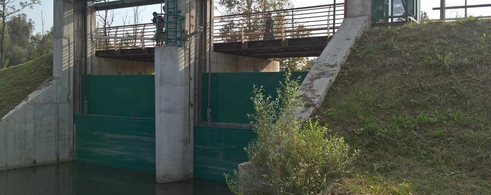 Il Lambro non fa più paura  Grazie alla diga di Inverigo