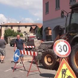 Gironico, lavori per il centro  Sei mesi di cantieri e disagi