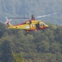 Punta da vespa sul Bolettone Atleta soccorsa con l'elicottero