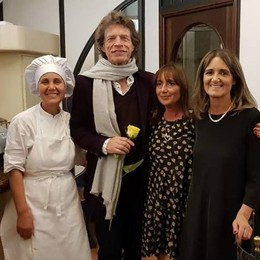 Mick Jagger, relax a Blevio  e cena in centro Como