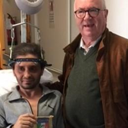 La visita di Tavecchio  al ragazzo in ospedale  «Mi ha fatto un regalo»