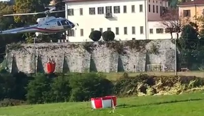 San Fermo - Elicottero in azione