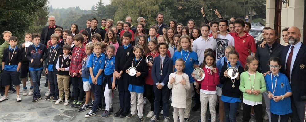 Il torneo di fine corso  Di Francisca alla premiazione