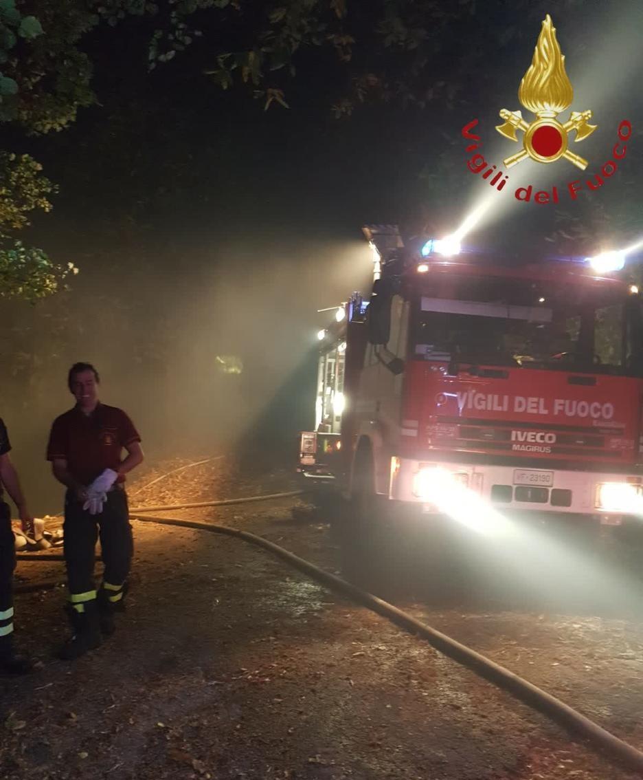 Pompieri sul posto