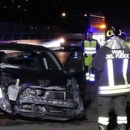 Quattro giovani feriti in A9  Incidente provocato da auto pirata
