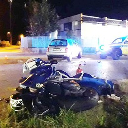 Incidente a Vertemate Gravissimo un motociclista