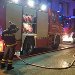 Sala Comacina, incendio in abitazione  Traffico a rilento sulla statale Regina
