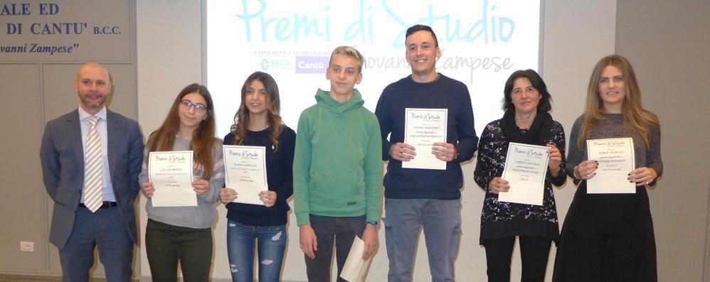 Cantù, premio Zampese  20 anni con i giovani