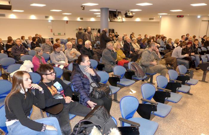 Il pubblico in sala, in maggioranza donne