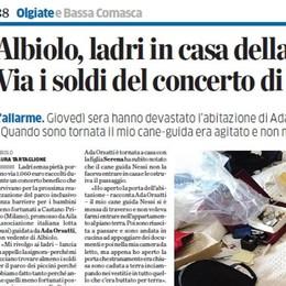 Albiolo, furto alla non vedente  Da Como donati mille euro