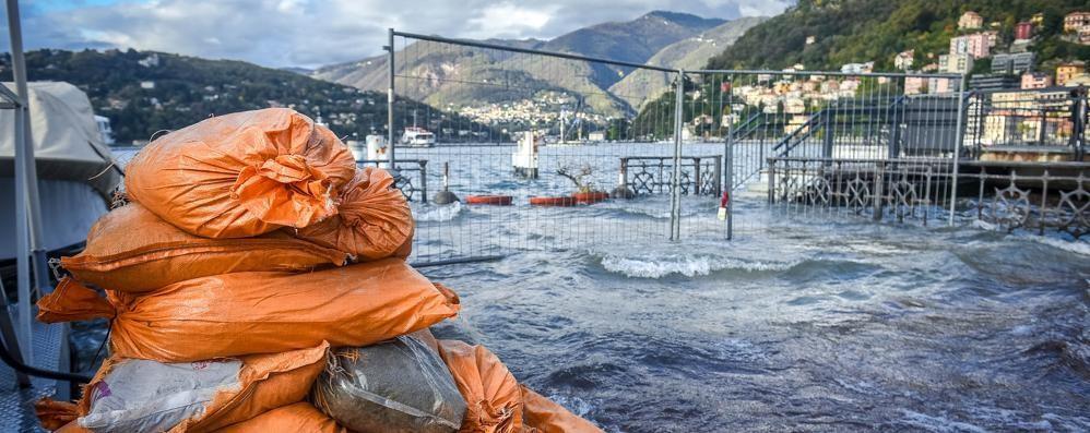 Lago, livello stabilizzato  Resta il rischio esondazione