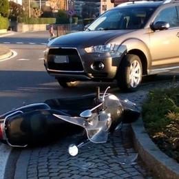 Scooter contro auto Un ferito a Lipomo
