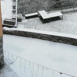 Arriva la prima neve  In Valle d'Intelvi già alta