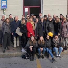 Erba Giù i primi muri  «La stazione rivivrà  grazie ai giovani»