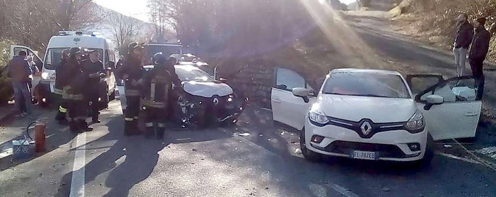 Incidente sulla curva Feriti a Sormano