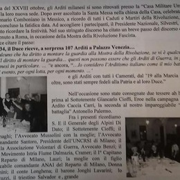 Volantino fascista (vecchio) a Turate  Il Comune fa un esposto in Procura