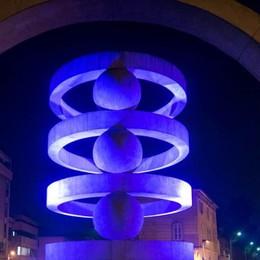 Como: la fontana di Camerlata   torna illuminata