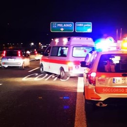 A9, incidente a Como centro Tre feriti e code verso Milano