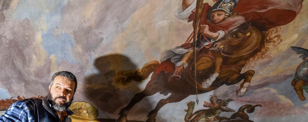 Como, sorpresa durante i restauri   A San Giorgio trovati affreschi del '600