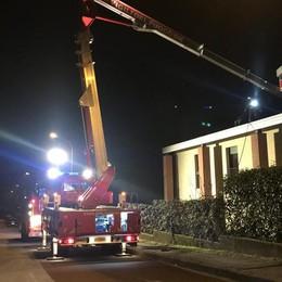 Incendio canna fumaria Vigili del fuoco a Lurago