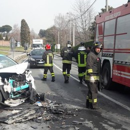 Incidente a Intimiano  Due feriti, grave donna