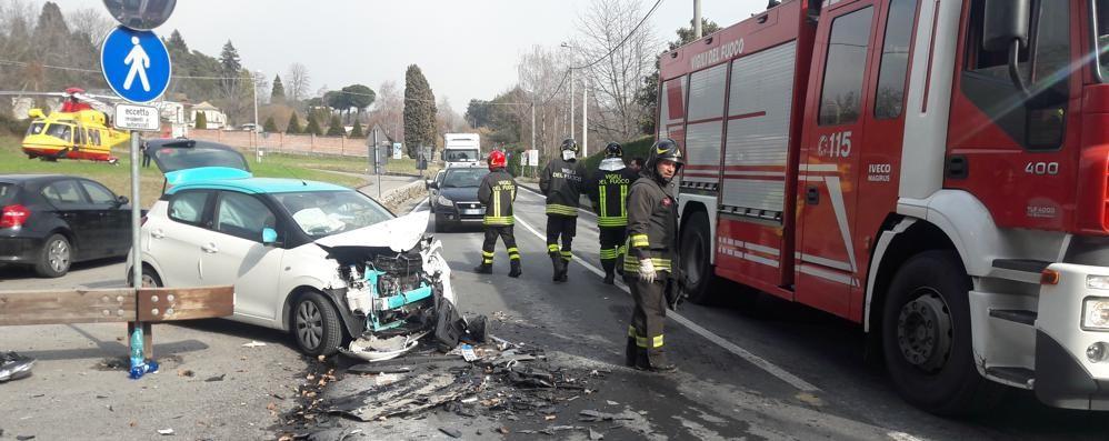 Incidente a Intimiano  Due feriti, grave donna