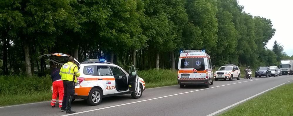 Appiano, scontro tra auto  Lomazzo Bizzarone bloccata