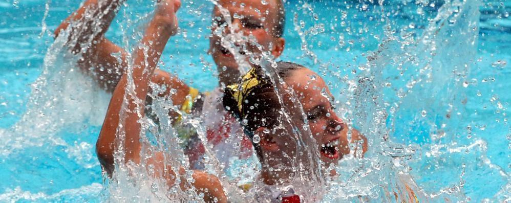 Nuoto sincronizzato  Inghilterra a Muggiò
