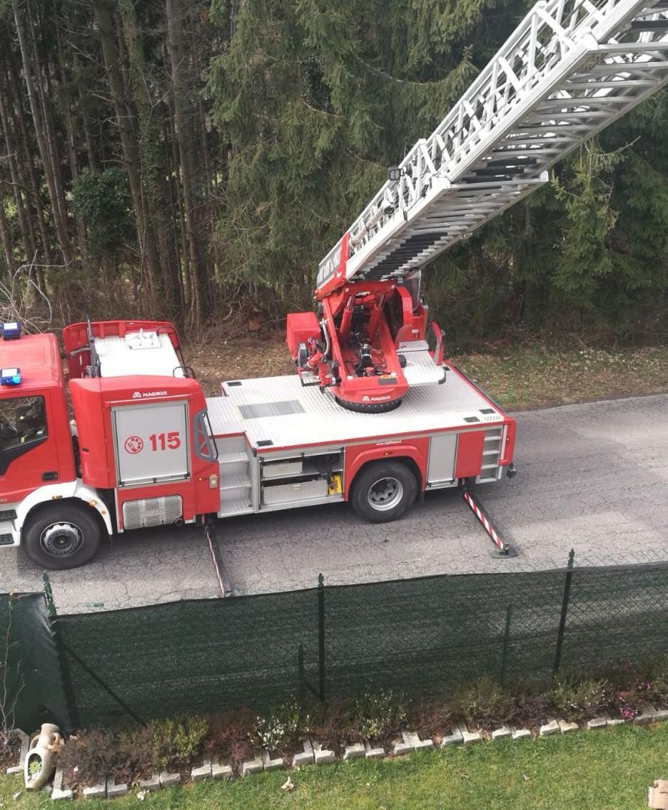 L'incendio a Rodaro