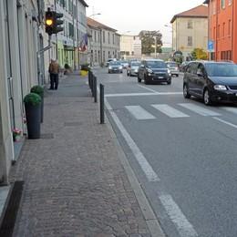 Incidente auto moto  Statale bloccata a Luisago