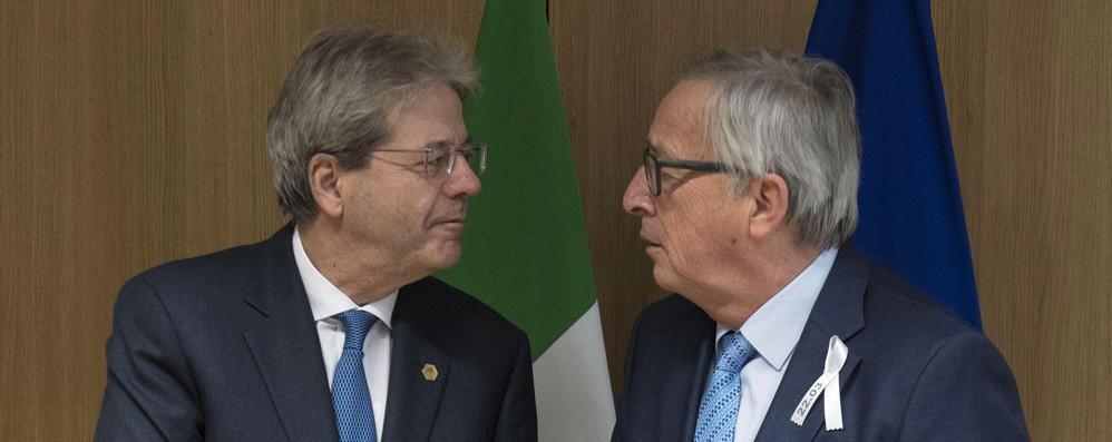 Juncker vede Gentiloni, 'l'Italia troverà soluzione'