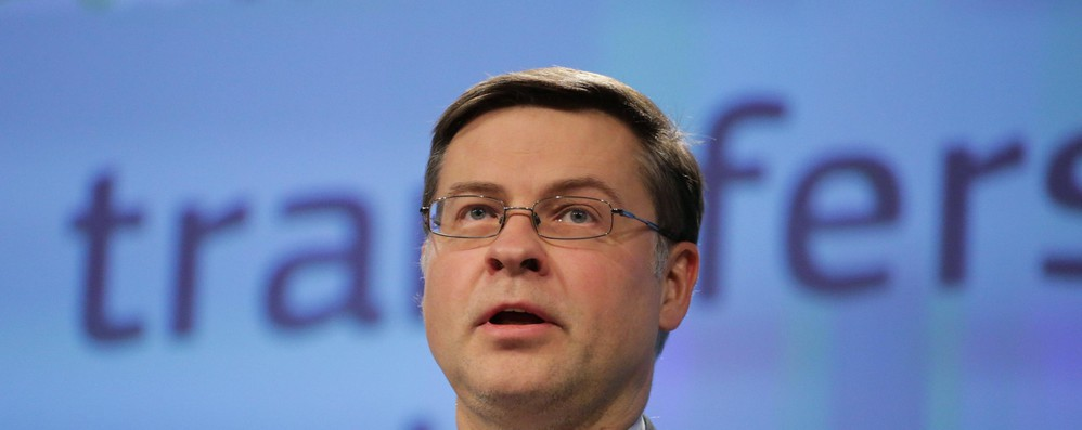 Dombrovskis, diverse opzioni per coprire buco in bilancio Ue