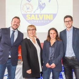 Otto comaschi in Parlamento - Lega: Molteni, Rivolta, Zoffili, Locatelli e Borghi