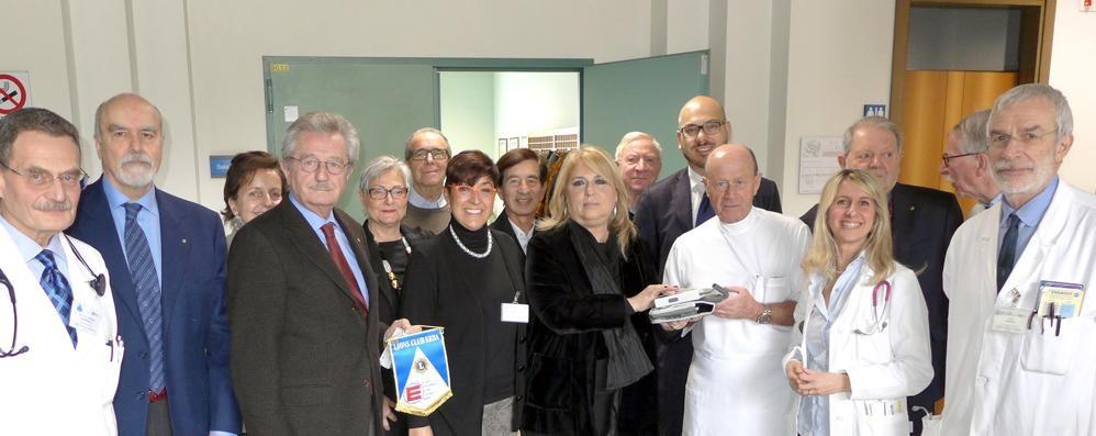 Un nuovo macchinario  per i malati di diabete  Grazie ai Lions Erba