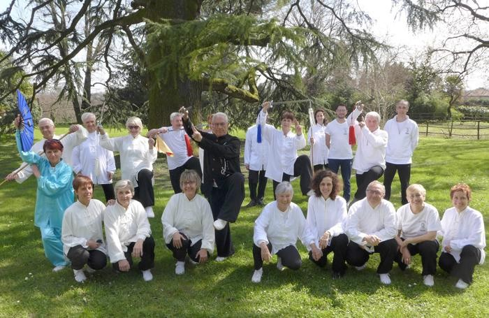 Anche nel pomeriggio del 14 aprile Villa Parravicino Sossnvosky ha ospitato la dimostrazione di Tai Chi