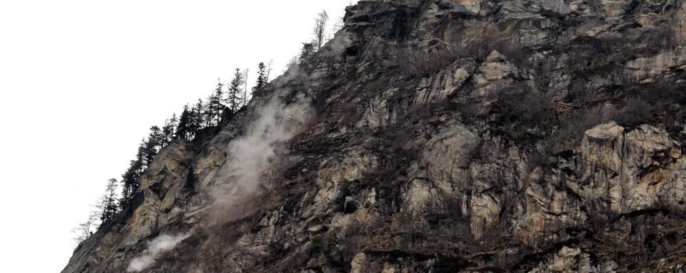 Frana in Valchiavenna  SS 36 aperta per sei ore