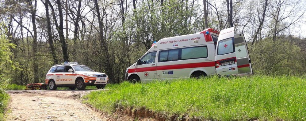Cade dalla mountain bike  Ferito ciclista a Cantù