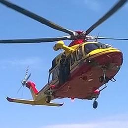 Cavargna, malore sulla provinciale  Arrivano elicottero e ambulanza